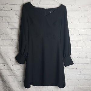 ANN TAYLOR Black Long Sleeve Dress Petite